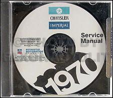 1970 Chrysler Repair Shop Manual on CD 70 New Yorker 300 Imperial Newport