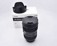 Sigma ART 24-35mm f/2 DG HSM Zoom Lens for Nikon AF 015 Hood & Caps FX (#6050)