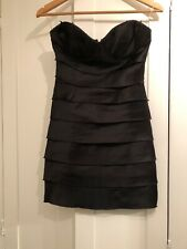 Lipsy Dress Size 8 Black Bandeau Tiered Mini Party Cocktail Xmas BNWT New Sexy