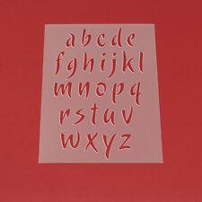 Schablone Wandschablone Buchstaben Satz a - z Klein Alphabet a bis z - ME25
