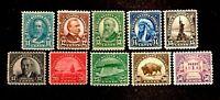 Scott US # 692-701 - 1931 Rotary Stamps; Mint Hinged; OG; CV=$84.50