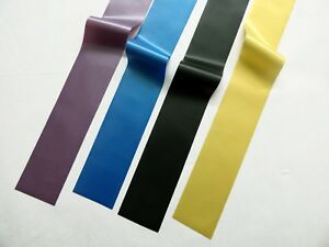 Latex Rubber Stripping, Strips, 0.33mm Thick, 2inches/50mm Wide, Various colours