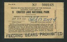 1950 United States Trailer Permit Stamp #RVT2 Crater Lake National Park Oregon