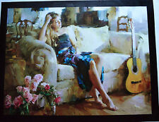 GARMASH MUSIC IN THE AFTERNOON GICLEE CANVAS HAND EMBELLISHED SIGNED COA #42/50