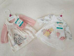 DISNEY Nutmeg Baby Girls DUMBO WINNIE THE POOH Dress & T-shirt Tights Set Outfit