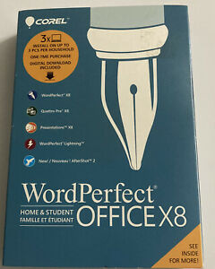 New Corel WordPerfect Office X8 Home & Student Edition for PC Business Software