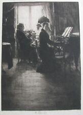 """FERDINAND SCHMUTZER AUSTRIAN DRYPOINT ETCHING """"JOSEPH JOACHIM"""" 1907"""