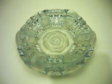 Vintage Frosted Rose Design Ashtray .