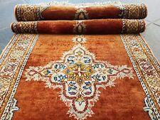 Königlicher Seiden Orientteppich Handgeknüpft Beautiful Carpet 130 x 40 cm