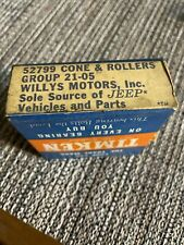 nos willys jeep Unopened Box Of cone & rollers part #52799