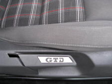 VW GOLF JETTA MK5 / 6 GTD SEAT INSERT PAIR BRUSHED ALUMINIUM ALLOY INTERIOR TRIM