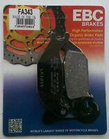 Honda CBR125R (2004 to 2010) EBC Organic REAR Disc Brake Pads (FA343) (1 Set)