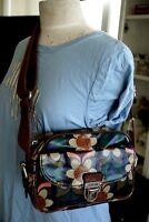 Fossil Handbag Floral Vintage Key-Per Coated Canvas Crossbody Bag