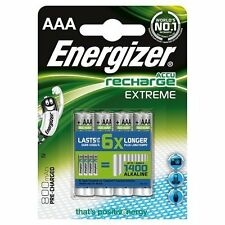 4x Energizer Recharge EXTREME AAA 800mAh Rechargeable Batteries