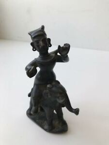 Southeast Asian and Indian Bronze, figure on elephant