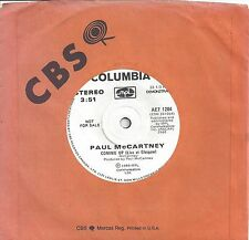 """Paul McCartney - Coming Up (Live at Glascow) 1 sided Canadian PROMO 7"""" Single"""