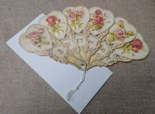 More details for vintage fan shaped greetings card - old print company