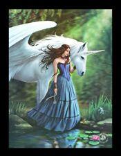 3d Cuadro con unicornio - enchanted Piscina - Anne Stokes Fantasy FOTO LIENZO