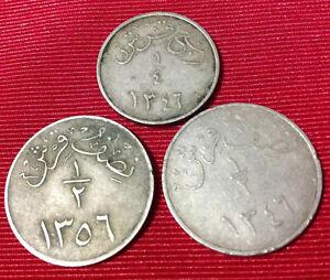 3 Saudi Arabia 1/4 Ghirsh 1/2 Ghirsh 1346,1356.
