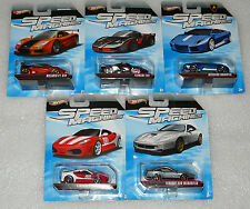 NEW HOT WHEELS SPEED MACHINES MCLAREN F1 GTR LAMBORGHINI FERRARI FXX FULL SET