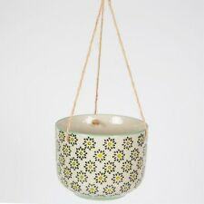 Sass and Belle Ria Ceramic Plant Pot - Hanging Planter Pot.indoor or Outdoor Use Flowers