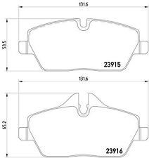 GENUINE 5 YEAR WARRANTY Mintex Rear Brake Pad Set MDB2139 BRAND NEW