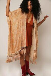 New Free People Kaleidoscope Velvet Kimono One Size