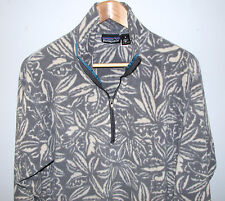 Vintage 1990's Patagonia Men's Hawaiian Floral 1/2 Zip Pullover Fleece Jacket S