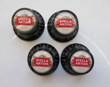 Stella Artois Guitar Knobs, Stella Artois logo volume Guitar Knobs, Stella knobs