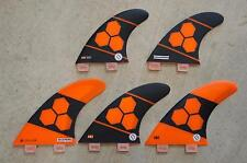Al Merrick Shapers fins AM2 FCS Corelite Channel Islands 5 FIN LARGE tri quad