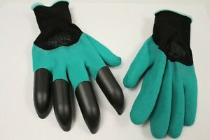 1 Pair Of Gardening Gloves With Claws - Green