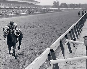 Lot of 2 Two SECRETARIAT Belmont Stakes Black & White 8 X 10 PHOTOS