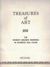TREASURES OF ART - 1937 National Committee for Art Appreciation - 18 Art Prints