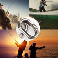 100 Pcs Fishing Solid Stainless Steel Snap Split Ring Jigging Tackle Connector