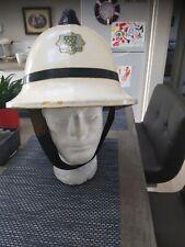 More details for white fireman's helmet