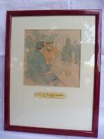 Original Imal Cromolitografía __ Le Rire 1897 __ Henri De Toulouse-Lautrec __