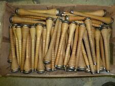 50 anciennes bobines bois ( canettes)  de filature  50 old spinning wood reels