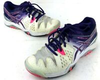 Asics Women's Pink/Purple Gel Resolution Training Jogging Running Shoes size 9