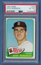 New listing 1965 Topps #434 Dave Morehead PSA 6 EX/MT Boston Red Sox