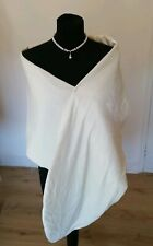 Beautiful velvet ivory stole for wedding / occasions