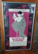 1967 Return of MAXFIELD PARRISH Art Exhibition Poster Los Angeles Framed Glass