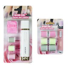 ELETTRICA Nail Buffer/lucidatore Kit Manicure Bianco con 2 set di ricariche di ricambio