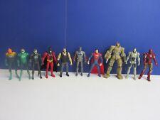 "4"" BATMAN IRONMAN SUPERMAN BANE GREEN LANTERN ACTION FIGURE super hero LOT 89T"