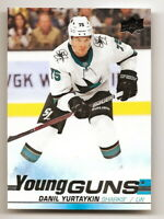 2019-20 UPPER DECK SERIES 1 DANIL YURTAYKIN YOUNG GUNS ROOKIE CARD #223 (SHARKS)