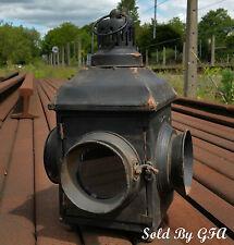 Railway Train Light Lamp Hurricane Lantern Candle Holder Vintage/Antique Style