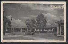 Postcard CLEARWATER Florida/FL  Richmond Tourist Apartment Complex 1940's