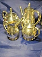 INTERNATIONAL STERLING ROYAL DANISH TEA COFFEE 5 PIECE SILVER SET.EXCELLENT 75oz