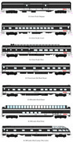 KATO 106102 N SCALE CN Transcontinental 7 Car Passenger Set 106-102 NEW JUST OUT
