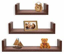 Set de 3 estantes flotantes decorativos en forma de S GRIS PARED HOGAR OFICINA