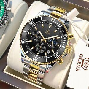 Chronograph Quartz Automatic Mechanical Stainless Steel Waterproof new Men watch
